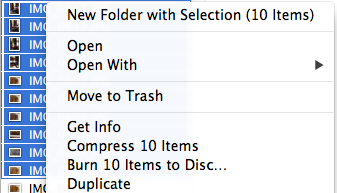 Quick Way to Create New Folder and Move Files on Mac