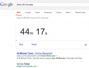 Google Timer Example